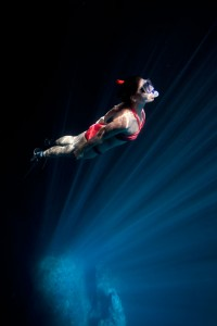 Freediver in Swallows Cave