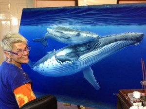 Renata Bruynzeel with artwork